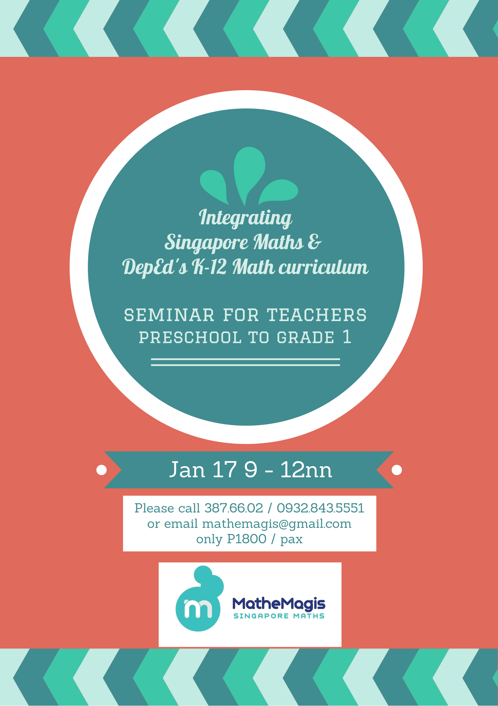 MatheMagis Singapore Maths » Blog Archive » Seminar for preschool ...